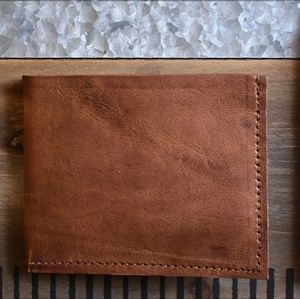 Stylish Leather Wallet Leather Bifold Wallet. Rugged Mens Leather Wallet ... 3e67ec8e68429